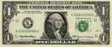 1 US Dollar note