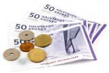 Picture of Danish Kroner Coins and Notes
