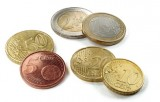 Selection of mixed Euro coins