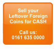 Sell Leftover Foreign Coins for CASH