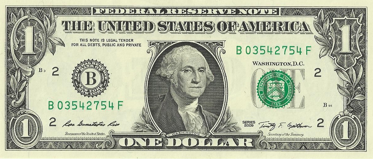 US 1 Dollar Bill
