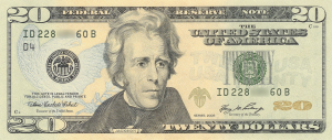 20 US Dollar Banknote