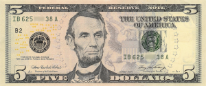 US 5 dollar bill