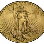 Image of the famous gold double eagle coin