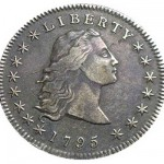 Photo of the 'flowing hair dollar' coin