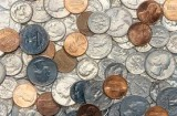 Photo of a selection of mixed US coins