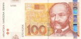 Picture of a 100 Croatian Kuna Banknote