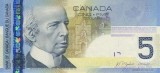 5 Canadian Dollar Banknote