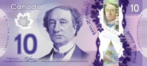 CAD $10 Dollar Banknote