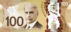 CAD $100 Dollar Banknote