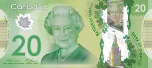 CAD $20 Dollar Banknote
