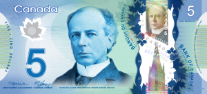 CAD $5 Dollar Banknote
