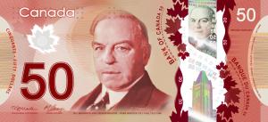 CAD $50 Dollar Banknote