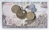 Photo of Spanish Pesetas and Coins