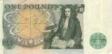 English pound note