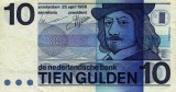 Photo of a 10 Guilder Banknote