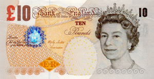 £10 GPB English Pounds