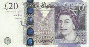 £20 GPB English Pounds
