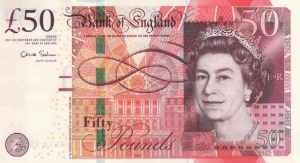 £50 GPB English Pounds