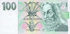 100 Czech Republic CZK Kc Koruna Banknote