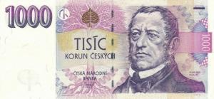 1000 Czech Republic CZK Kc Koruna Banknote