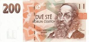 200 Czech Republic CZK Kc Koruna Banknote