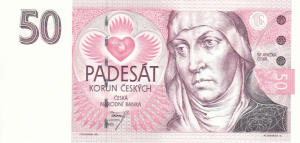 50 Czech Republic CZK Kc Koruna Banknote