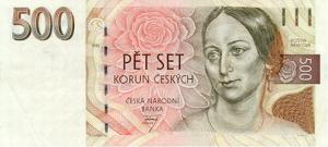 500 Czech Republic CZK Kc Koruna Banknote