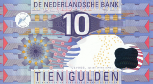 10 NLG Dutch Guilder Banknote