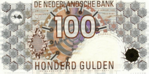 100 NLG Dutch Guilder Banknote