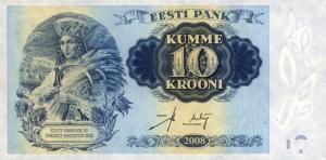 10 Estonian Kroon EEK Banknote