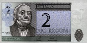 2 Estonian Kroon EEK Banknote
