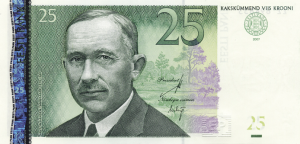 25 Estonian Kroon EEK Banknote