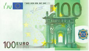 EUR €100 Banknote
