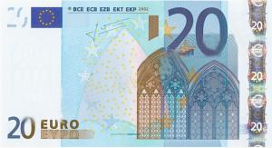 EUR €20 Banknote