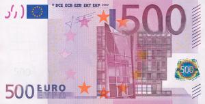 EUR €500 Banknote