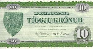 10 Faeroe Kr Banknote