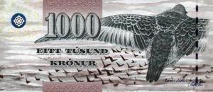 1000 Faeroe Krona Banknote