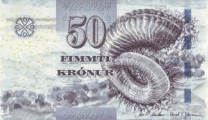50 Faeroe Krona Banknote
