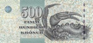 500 Faeroe Krona Banknote