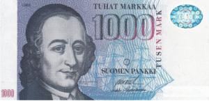 1000 FIM Markkaa Banknote