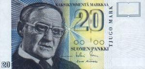 20 FIM Markkaa Banknote