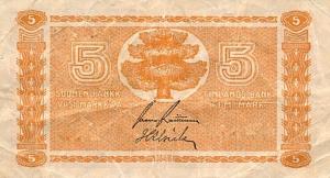5 FIM Markkaa Banknote