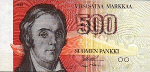 500 FIM Markkaa Banknote