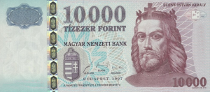 10000 HUF Hungarian Forint Banknote