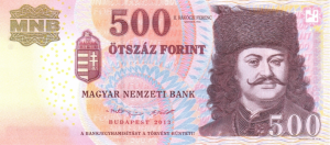 500 HUF Hungarian Forint Banknote