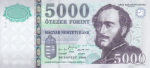 5000 HUF Hungarian Forint Banknote