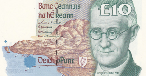 £10 Pounds Irish IEP Banknote