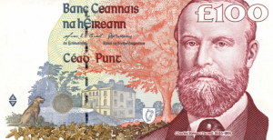 £100 Pounds Irish IEP Banknote