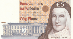 £5 Pounds Irish IEP Banknote